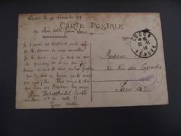 Lucon Hopital Temporaire   Cachet Franchise Postale Guerre 14.18 - Marcophilie (Lettres)