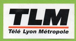 TLM TELE LYON METROPOLE * TV TELEVISION * AUTOCOLLANT 023 * - Autocollants