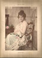 Lithographie , 31 X 24 ,  Signée Maurice LARD 1929 ,  COQUETTERIE ,   Frais Fr 1.95 E - Lithographies
