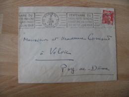 Paris 9 Rye Hippolyte Lebas Centenaire Du Timbre Poste Francais Flamme Sur Lettre - Poststempel (Briefe)