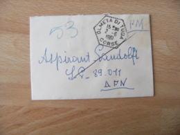 Olmeta Di Tuda Recette Auxiliaire Obliteration Sur Lettre - Marcophilie (Lettres)