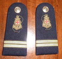 Spalline Capo Di 2^ Classe Infermiere - Sanitario - Marina Militare - Usate - Italian Navy Shoulder Boards - CPO Medical - Marine