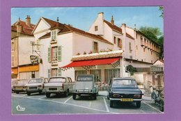 52 BOURBONNE LES BAINS Hôtel Les Lauriers Roses Mobylette Automobiles Citroën 2 CV Peugeot 404 204 R16 Simca 1000 - Bourbonne Les Bains