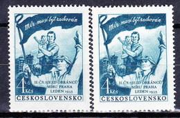 ** Tchécoslovaquie 1953 Mi 777 (Yv 683) Type I Et II, (MNH) - Tschechoslowakei/CSSR