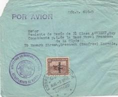 COVER ECUADOR. 2 8 1945. POR AVION. OFICIAL. MINISTERIO DE DEFENSA DEPARTEMENTO DE MARINA. TO GREENOCK SCOTLAND - Equateur