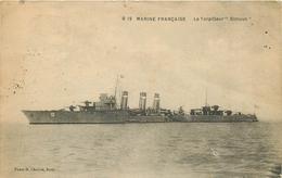 "WW MARINE MILITAIRE DE GUERRE. Navire Le Torpilleur "" Simoun "" 1927 - Guerre"
