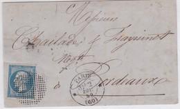 Devant - N°14 OBL. Cercle De Points (Réf. Pothion 124 N°1355 - Marcophilie (Lettres)