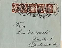 N° 176A / L En Bde De 5 Bdf ( FLAMME: Capt Danzig / Inter.. Briemarken Austelung  / 7-11.1929 / Le 11.7.1929->> München - Dantzig