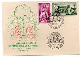 Tarjeta  Con Matasellos Commemorativo  1 Jornadas Infantiles De Proteccion A La Naturaleza De 1975 - 1931-Hoy: 2ª República - ... Juan Carlos I