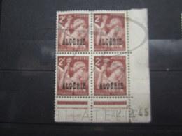 """VEND TIMBRES D ' ALGERIE N° 234 EN BLOC DE 4 , CD """" 22.2.45 """" , NEUFS AVEC CHARNIERES !!! - Algérie (1924-1962)"""
