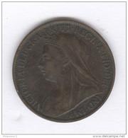 1 Penny Grande Bretagne / United Kingdom 1899 - Victoria - TTB - B. 1 Farthing