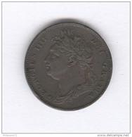 1 Farthing Grande Bretagne / United Kingdom 1821 - Georgius IIII - TTB+ - 1816-1901 : Frappes XIX° S.