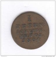 1 Pfennig Hanovre 1804 - Graveur GFM - TTB - [ 1] …-1871: Altdeutschland