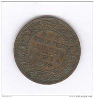 1/4 Anna Inde / India 1929 - Georges V - SUP - Inde