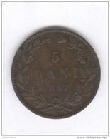 5 Bani Roumanie / Romania 1867 - TTB+ - Rumania
