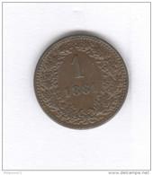 1 Kreuzer Autriche / Austria 1881 - SUP - Autriche