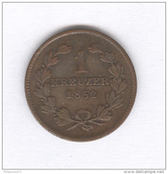 1 Kreuser Baden 1852 - TTB+ - [ 1] …-1871 : German States