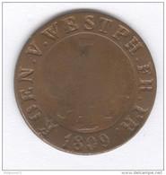 5 Centimes Allemagne - Westphalie - 1809 - [ 1] …-1871 : German States