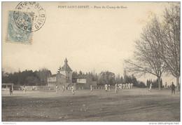 CPA Pont Saint Esprit - Place Du Champ De Mars - Circulée 1905 - Pont-Saint-Esprit