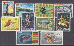 B0077 - GHANA Yv N°201/11 (-206)** ANIMAUX FLEURS - Ghana (1957-...)