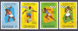 B0084 - GHANA Yv N°553/56 ** OLYMPIADES - Ghana (1957-...)
