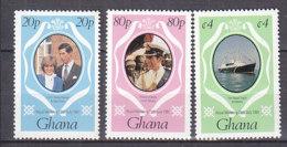 B0085 - GHANA Yv N°708/10 ** MARIAGE ROYAL - Ghana (1957-...)