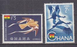 B0087 - GHANA AERIENNE Yv N°5/6 ** OISEAUX - Ghana (1957-...)
