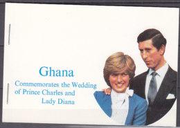 A1196 - GHANA Yv N°714/15 ** MARIAGE ROYAL CARNET - Ghana (1957-...)