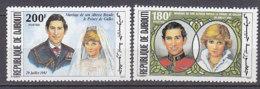B0099 - DJIBOUTI Yv N°535/36 ** MARIAGE ROYAL - Djibouti (1977-...)