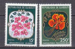B0100 - DJIBOUTI Yv N°483+485 ** FLEURS - Djibouti (1977-...)