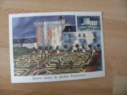 1954 Chateau Villandry Cm Carte Maximum - Maximumkarten