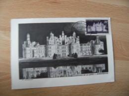 1952 Chateau Chambord  Cm Carte Maximum - Maximumkarten