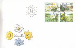 Aland - Fleurs - Lettre FDC De 1997 - Oblit Marieham - Timbres Du Carnet - - Aland