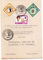 Tarjeta  Con Matasellos Commemorativo Exposicion Mundial Filatelia De 1975 - 1931-Hoy: 2ª República - ... Juan Carlos I