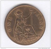 One Penny Georgus V - 1931 - TTB+ - 1816-1901 : Frappes XIX° S.