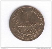 1 Centime France - 1920 - Francia