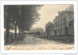 CPA Tournus - Promenade De L'Esplanade - Ecoles Communales -  Circulée 1905 - France