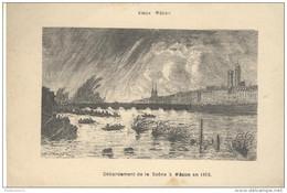 CPA Vieux Mâcon - Débordement De La Saône à Mâcon En 1865 - Circulée 1909 - Macon