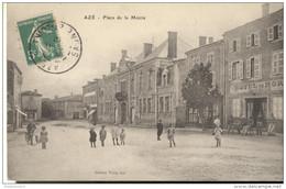 CPA Azé - Place De La Mairie -  Circulée - Other Municipalities