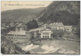 CPA Cluses - L'Usine Electrique Sur L'Arve - Circulée 1909 - Cluses