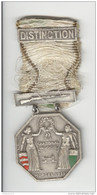 Médaille De Tir Suisse - Tir Cantonal Vaudois - Morges 1932 - Barrette DISTINCTION - Gettoni E Medaglie