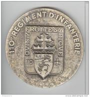 Médaille 110e Régiment D'Infanterie - QUI S'Y FROTTE S'Y PIQUE - 80 Mm - Professionals / Firms