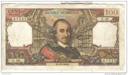 100 Francs Corneille 1964 - Bon état - Nombreux Trous D'épingle - 1962-1997 ''Francs''