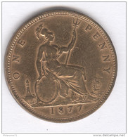 One Penny Victoria - 1877 - TB - 1816-1901 : Frappes XIX° S.