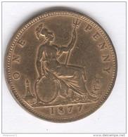 One Penny Victoria - 1877 - TB - 1816-1901 : Coniature XIX° S.