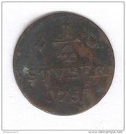 1/4 Stuber Allemagne - Wiel Runkel - 1758 - [ 1] …-1871 : German States