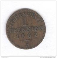 1 Pfennig Allemagne - Prussia - 1862 A - [ 1] …-1871 : German States