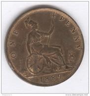 One Penny Victoria - 1889 - TTB - 1816-1901 : Coniature XIX° S.