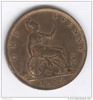 One Penny Victoria - 1889 - TTB - 1816-1901 : Frappes XIX° S.