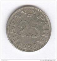 25 Para Yougoslavie 1920 - Yugoslavia